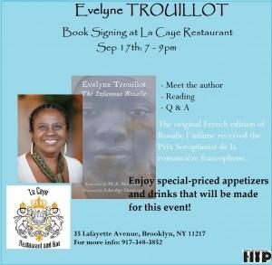 Evelyne Trouillot ROSALIE Signing-FLYER